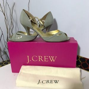 J.Crew heels in cool graphite color